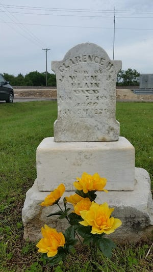 Tombstone of Clarence H. Blain at Bella Vista Cemetery