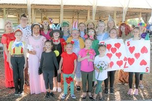 Pictured is the cast of the Fulton County Playhouse Production of Dorothy in Wonderland.