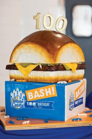 White Castle's 100th birthday slider cake.