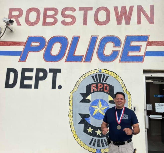 Sgt. Filiberto Tagle III earned a silver medal at the Texas Police Games.