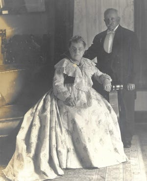 """Adolphus """"Adolph"""" Gluck, pictured right, with wife Sophia Gluck."""