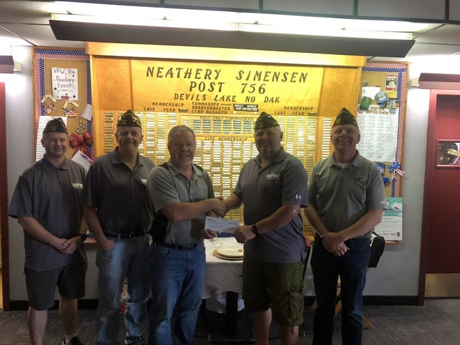 Pictured from left to right Andrew Sogge, Try Johanson, Dale Robbins, Wes Widmar, Mike Grafsgaard.