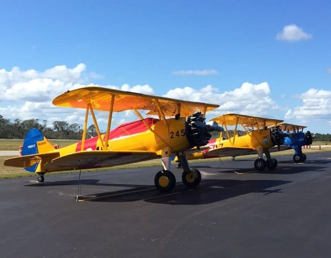 Vintage airplanes will be on display at the Freedom Fest Saturday.