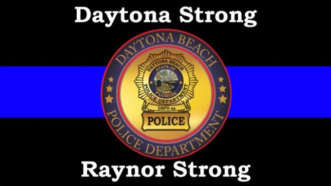 Daytona Strong Raynor Strong is a GoFundMe fundraiser started to help Daytona Beach police officer Jason Raynor, who was shot in the line of duty June 23, 2021.