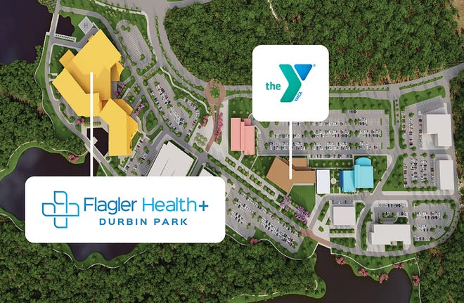 This rendering is of the Flagler Health+ campus at Durbin Park in St. Johns County, including the recently announced new First Coast YMCA branch.