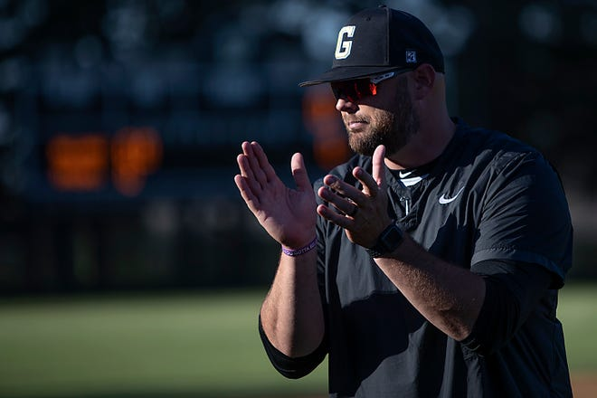 Galesburg High School baseball coach Jeremy Pickrel gestures during the Silver Streaks' 7-6 loss to Streator in Class 3A regional semifinal action on Friday, June 4, 2021 at Jim Sundberg Field.