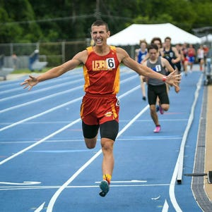 Lejeune's Karl Benson won the 800-meter run title Friday in the NCHSAA 1-A track and field championships. [Dan Loughlin/MileSplit]