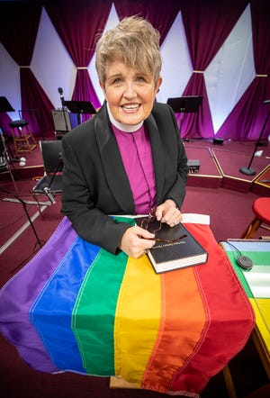 Pastor Mel Wilkinson joined Christ's Promise Church in Auburndale in 2019. The church is affiliated with the United Church of Christ, a denomination that emphasizes being welcoming and affirming to LGBTQ people.