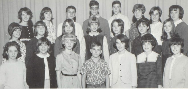Pictures of the Past is from the 1967 Lincoln Community High School yearbook. Featured are students involved in the creation of the Lincolnite yearbook.  From left in front are: B. Ruenzi, K. Andrews, S. Davis, T. Harrison, C. Reeves,M. Holland and C. Colby. Second row: B. Kaiser, A. Bunner, M. Harrison, S. Anderson, J. Welch, B. Berger and S. Oltmans. Third row: L. Reichle, J. Kleinschmidt, G. Bernahl, R. Kramp, J. Perry, C. Stefanec, T. Leonard and Miss Marilyn Schwartz, advisor.
