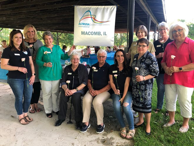 Altrusa Board Members for 2021-2022 from left to right: Kelli Barry, Jean Marlow, Cindy Roon, Peggy Ma, Janet Dixon, Brae Huston, Marsha McCormick, Judi Dallinger, Kathy Wyatt, and Jeanie Sowers. Absent: Hayley Cortes and Norrita Hammond.