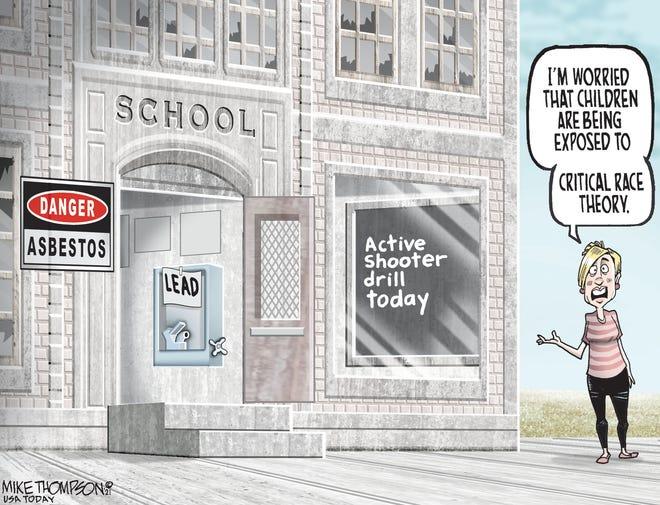 Mike Thompson cartoon: Critical race theory
