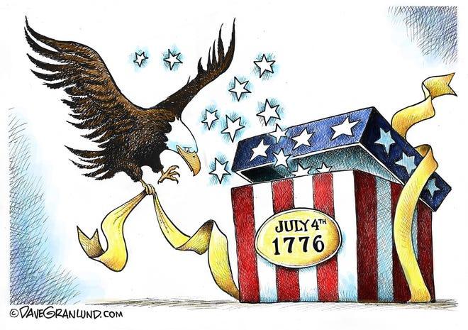 Dave Granlund cartoon: Fourth of July birthday