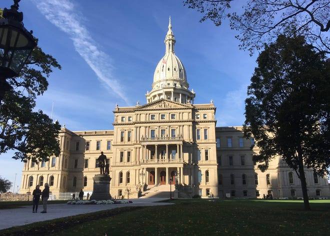 The Michigan State Capitol building in Lansing in Oct. 2017.