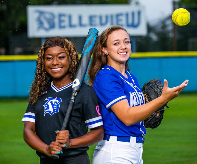 Belleview's Jaela Haynes, left, and Lauren Reimsnyder, right, are the Ocala Star-Banner's Softball Player and Pitcher of the Year. Haynes and Reimsnyder helped lead the Rattlers to a 21-8 record and a trip to the Class 4A Region Finals.