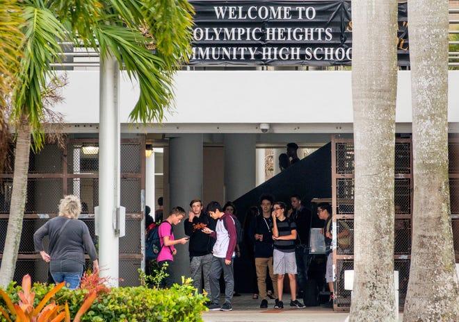 Olympic Heights High School near Boca Raton.