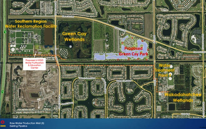 A new wetlands park at Green Cay, location of a nearby water purification plant and learning center that will stress the importance of water conservation are planned west of Boynton and Delray. The $40 million plus project is expected to be completed in December 2025.