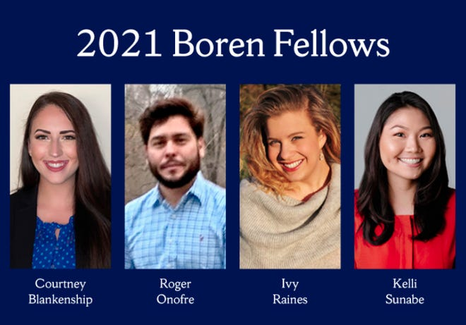 Courtney Blankenship of Pratt has been named one of four 2021 Boren Fellows for her studies in international languages and foreign affairs at Syracuse University in New York.