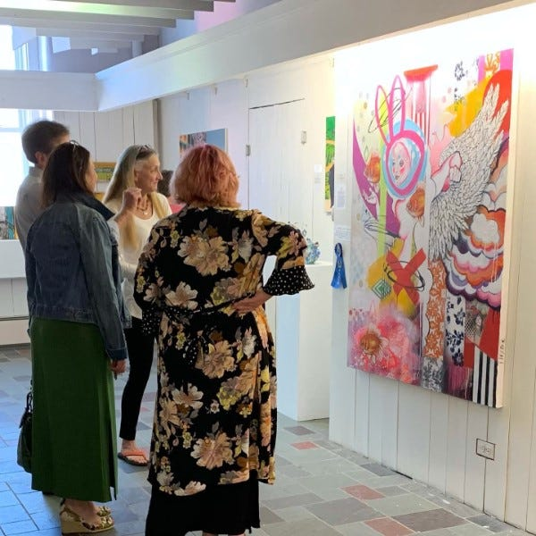 Local Artist Ingrid Hyde recently earned first-place honors at the 34th anniversary Women's Works Art Exhibit in Woodstock.