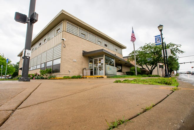 The block on the northeast corner of the North Church Street and Lincolnway East intersection in downtown Mishawaka on Friday, June 25, 2021. According to Mishawaka officials, Beacon Health System plans to redevelop the block.