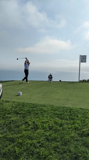 South Bend native Rick Lamb prepares to tee off on the par 4 No. 4 during the 121st U.S. Open last weekend at Torrey Pines in San Diego. The lefty Lamb finished tied for 46th in his first Major championship.