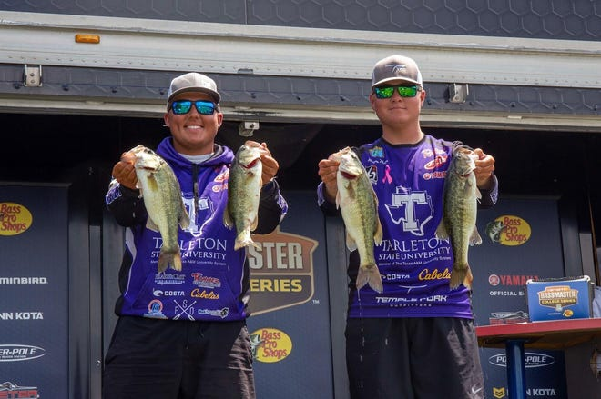 Tarleton's Collin Reyes and Reagan Nelson finished 28th recently at the Lay Lake tournament.