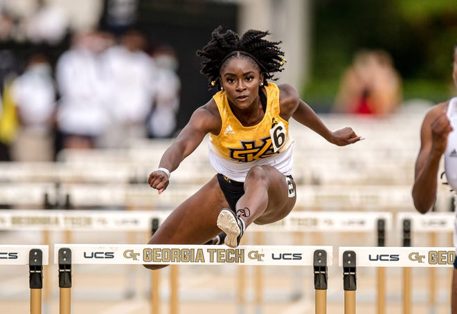 Former Effingham County High School standout Olivia Brown captured Atlantic Sun Conference indoor and outdoor championships in the hurdles during her sophomore year at Kennesaw State.