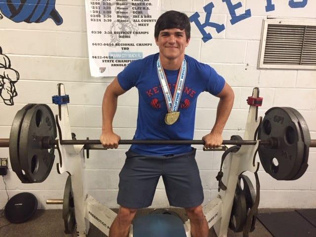 Sun area high school boys weightlifter of the year Kade Sanders from Keystone Height.