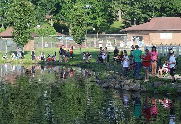 The fishing derby is one of the popular events at First Town Days, held at Tuscora Park in New Philadelphia.