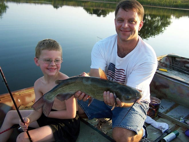 Summer is a great time to get out and enjoy the outdoors. Luke's son in law and grandson sharing some quality time together fishing in a remote pond.