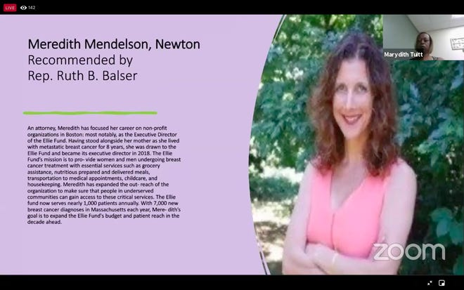 Meredith Mendelson, of Newton, was named to the Commonwealth Heroine Class of 2021.