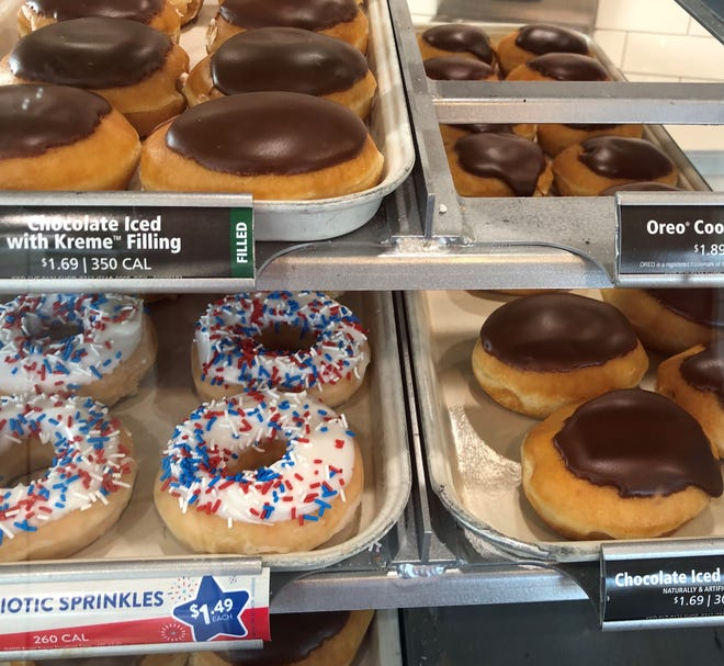 A reader asks if the Krispy Kreme doughnut store on Patton Avenue has been having trouble with its doughnut machine, but Answer Man John Boyle found everything in order there on a recent visit.