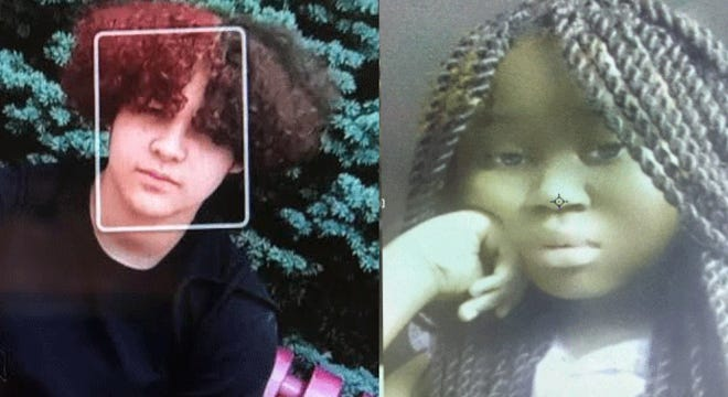 Amya Glover, 13, on the left and Samaria Hodge, 12 are missing from North College Hill
