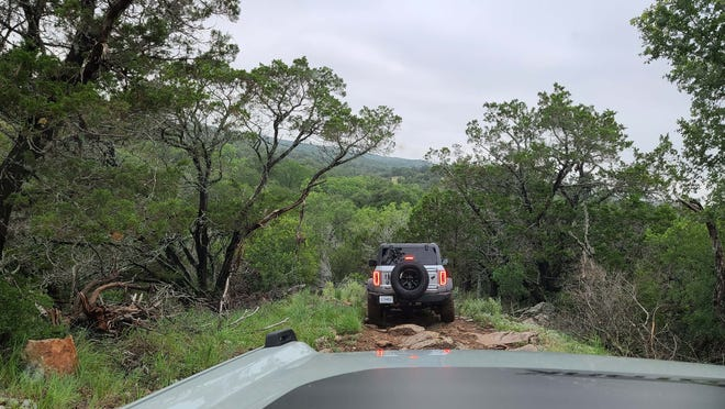 On the trail, Bronco Off-Roadeo participants enjoy gorgeous views and rugged terrain.