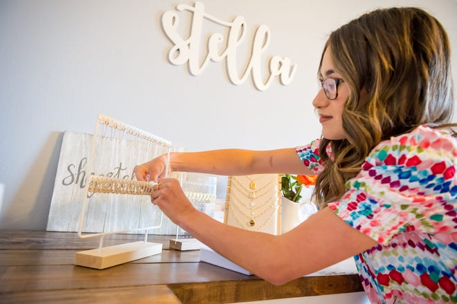 Stella Owen, 15, makes and sells jewelry with her own small business she started during quarantine.