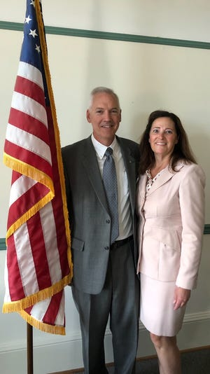 Newly appointed county commissioner Marty Smith and his wife, Shari.
