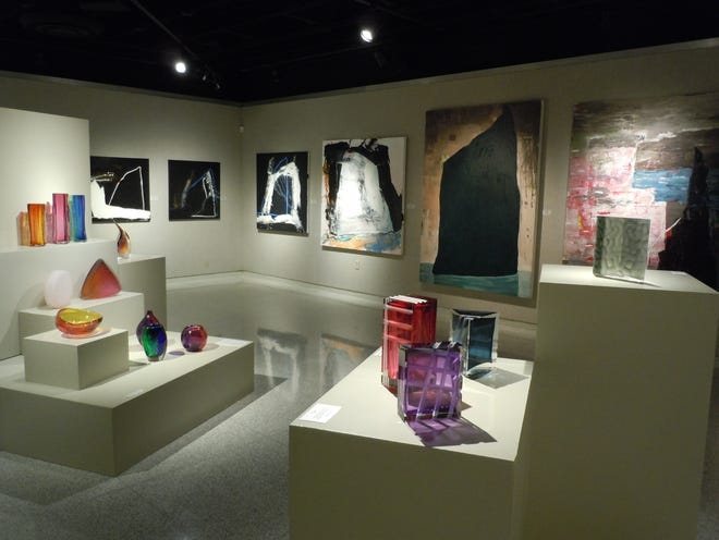 """The Mansfield Art Center is presenting two new exhibitions, """"Authentic Surface"""" and """"Shush"""" through July 25."""