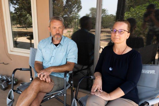 Cliff W. Gilmore and Debra Gilmore at home in El Dorado, New Mexico.
