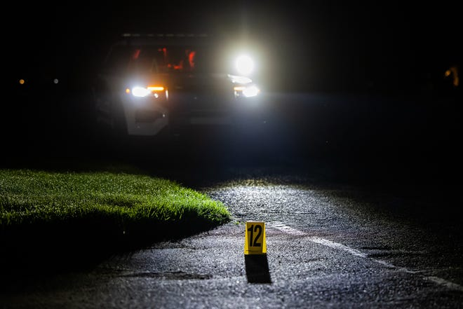 Eastern Adams Regional Police investigate a shooting on the first block of Oak Drive, Saturday, June 12, 2021, in Oxford Township.