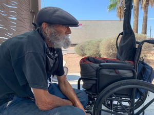 """Scottsdale native James Gaines, who has been homeless for two years, has been trying to get a housing voucher. """"I'm ready to get off the streets,"""" he said."""