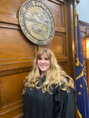 Judge April Drake presides over Wayne County Circuit Court after she was appointed by Gov. Eric Holcomb to replace Judge David Kolger, who retired.