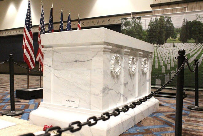 A replica of the Tomb of the Unknown Soldier.