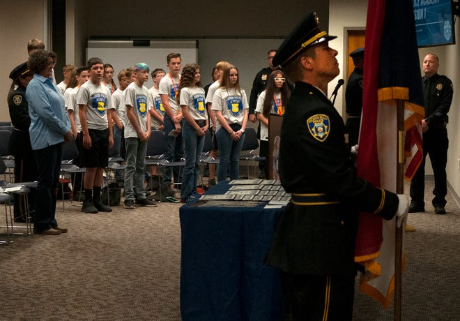 Wichita Falls police graduated 22 new students from the the Junior Police Academy Friday morning.