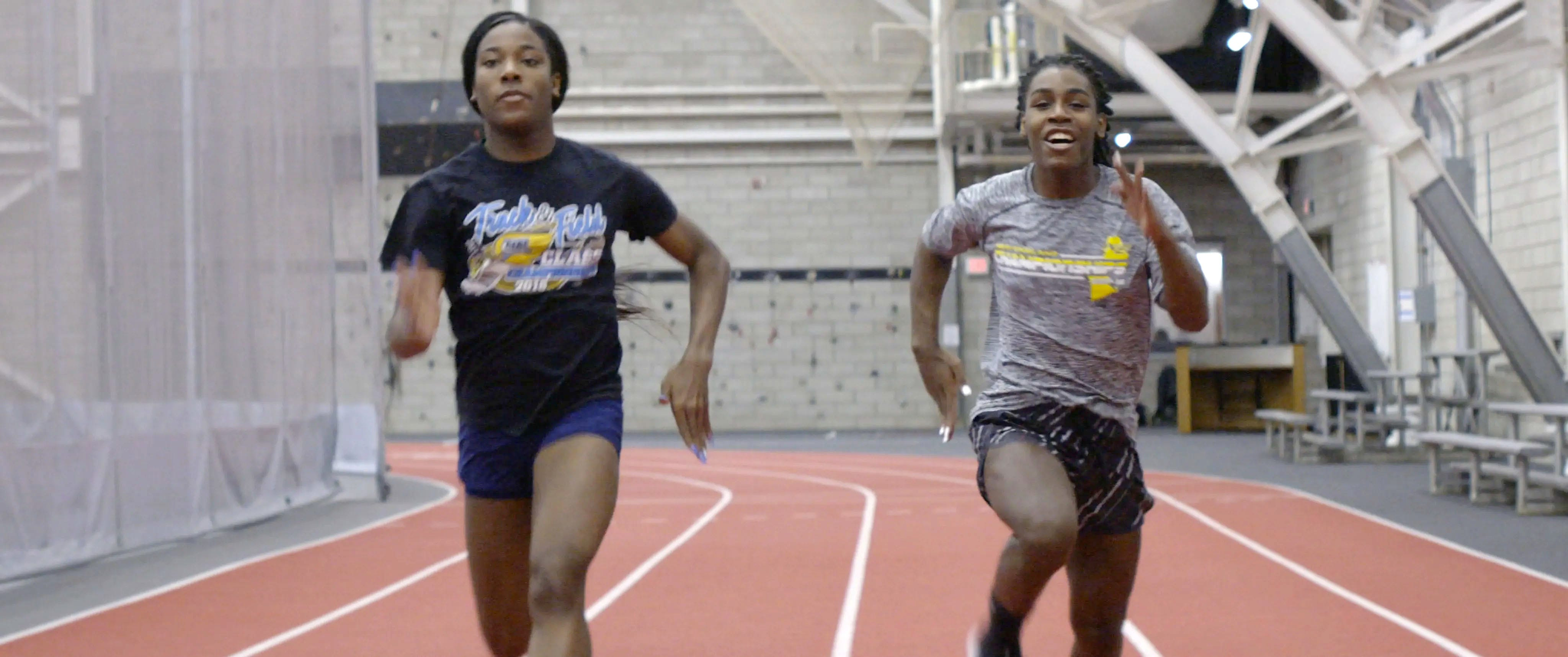 Between them, high school runners Andraya Yearwood (right) and Terry Miller (left) won 15 Connecticut girls' track titles from 2017 to 2019. A federal judge threw out a lawsuit that challenged the state athletic association rules that allowed them to compete.