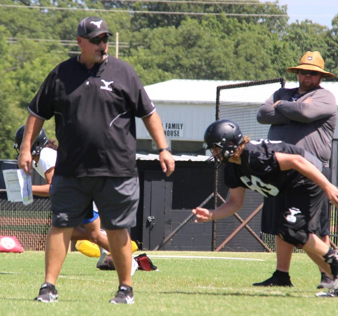 Brad O'Steen, left, is leaving Lone Grove after three seasons to take over as Ada's head football coach and assistant athletic director.