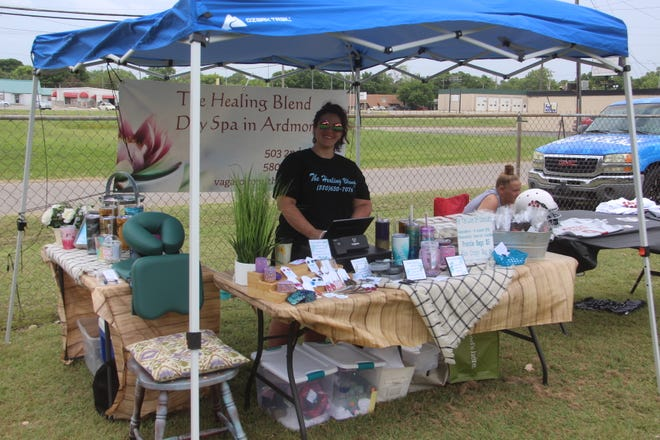 Vendors set up shop Saturday at Bargain Lady 2 for the Ardmore Small Business Block Party.