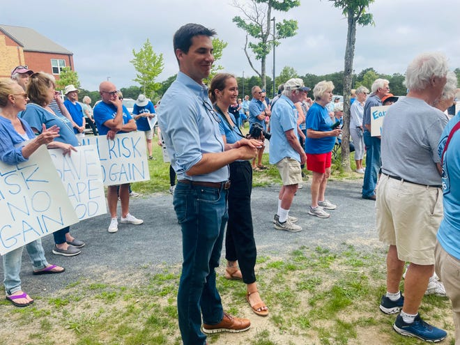 """""""This is our land, and we're going to fight for it,"""" said State Rep. Dylan Fernandes."""