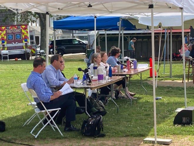 Wellfleet Town Meeting was held Saturday, June 26, at ballfield across Wellfleet Elementary School.