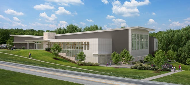 A rendering of the new Monroe County Public Library branch.