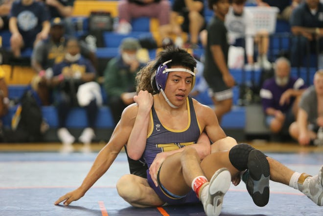 North Henderson's Lazaro Vasquez competes in the 3-A state championship tournament Saturday in Gibsonville.