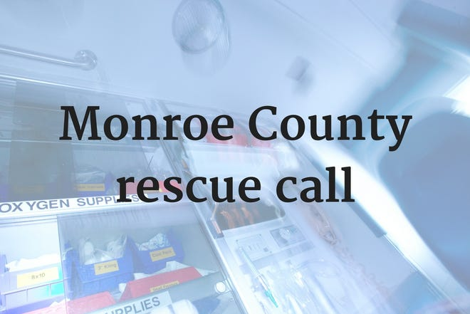 Monroe County first responders make water rescue at Monroe County KOA Campground in Summerfield Township Friday afternoon.